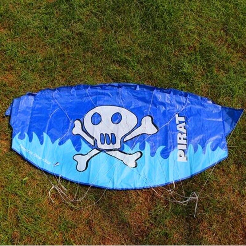 gratis forsendelse 1.2m dual line parafoil drage flyvende værktøjer barn power kitesurf udendørs legetøj sport strand weifang albatross kaixuan