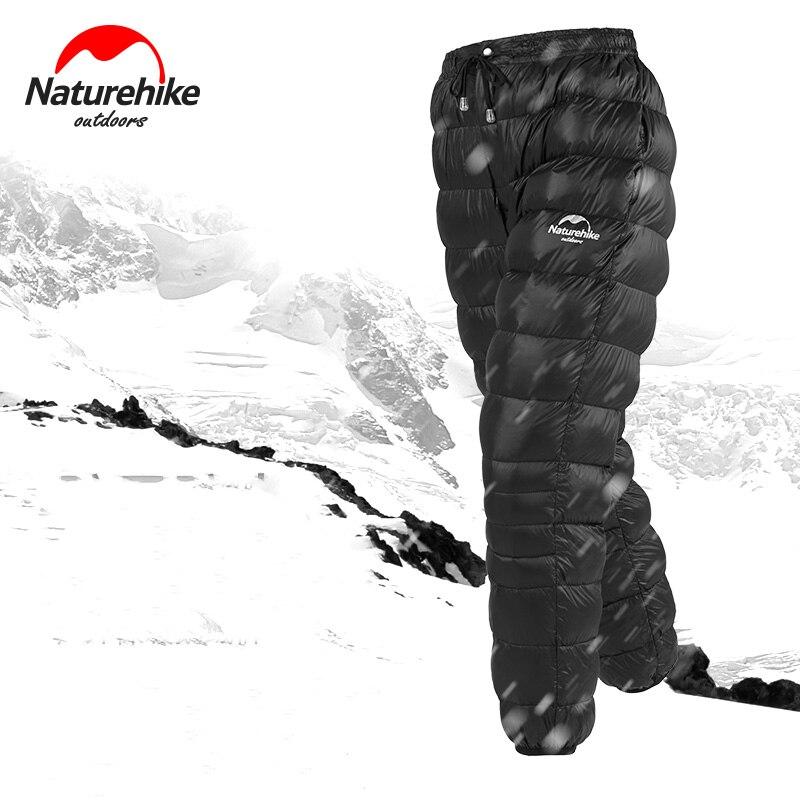 Pantalons en duvet d'oie blanche naturetrek Outdoor 90% imperméables hommes femmes alpinisme Camping pantalons d'hiver chauds