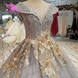 Image 3 - AIJINGYU הטוב ביותר שמלות כלה ארוך לבן עם מחוך אוקראינה גליטר Weddingss סאטן שמלות נסיכת כלה שמלה