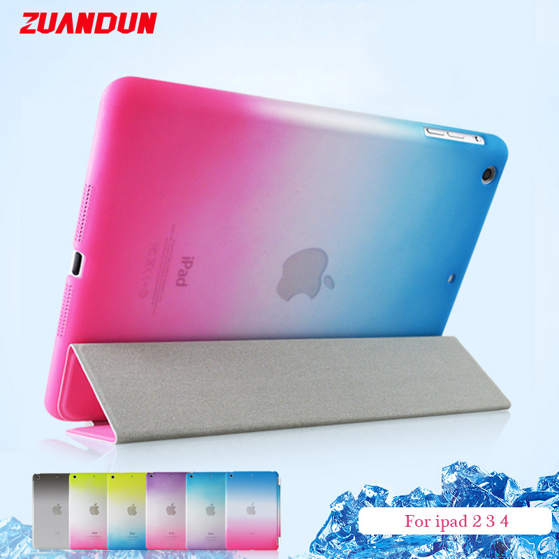ZUANDUN Luxury Smart Flip Case For iPad 2 3 4 Stand PU Leather Protective Cover For iPad 4 Tablet Case Auto Wake up / Sleep luxury flip stand case for samsung galaxy tab 3 10 1 p5200 p5210 p5220 tablet 10 1 inch pu leather protective cover for tab3