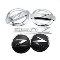 1 Set 5x 3D Silver 350 Z Symbol Car Auto Front Rear Side Body Emblem Stickers