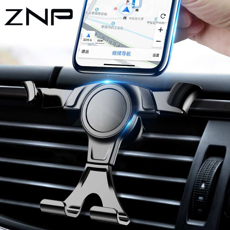ZNP Phone Holder In Car Universal Car Phone Holder Gravity Air Vent Clip Mount Cell Stand Support For Iphone 8 XS Max Samsung S9