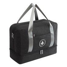 Для женщин человек сухого и мокрого разделения пляжная сумка мужчина Спорт на открытом воздухе водонепроницаемая сумка для обуви купальники моющаяся сумка для хранения Фитнес плавание сумка