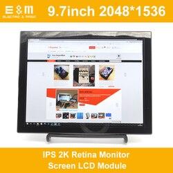 9,7-дюймовый 2048*1536 IPS 2K Retina монитор ЖК-модуль HDMI ТВ Портативный Raspberry Pi 3 Xbox PS4 аэроплеер