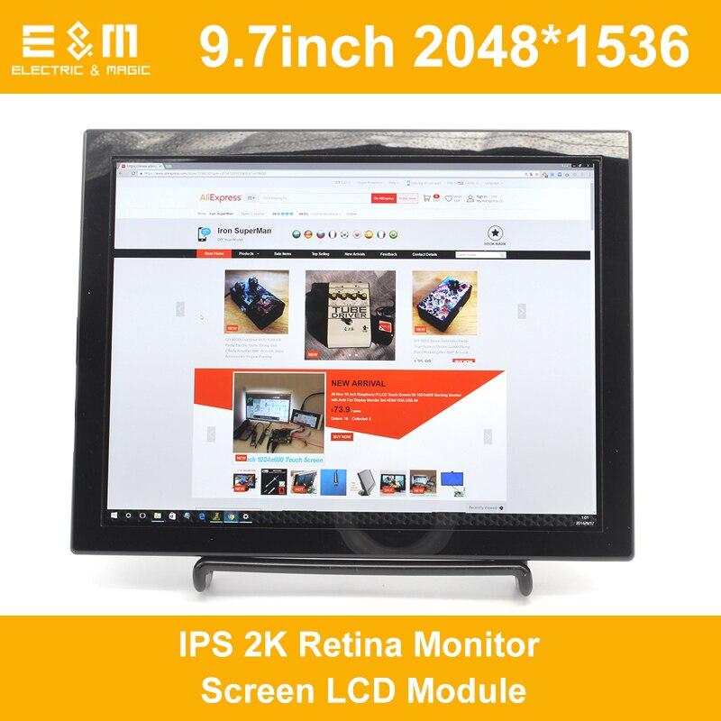 9.7 Inch 2048*1536 IPS 2K Retina Monitor Screen LCD Module HDMI TV Portable Raspberry Pi 3 Xbox PS4 Aerial Displayer Player