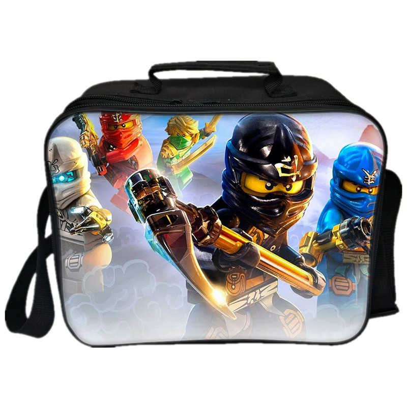 Lego Movie Lunch Bags Cartoon Ninjago Batman Deadpool Iron Man Captain America Pattern Thermal Insulated Cool Bags 3D Picnic Bag ...