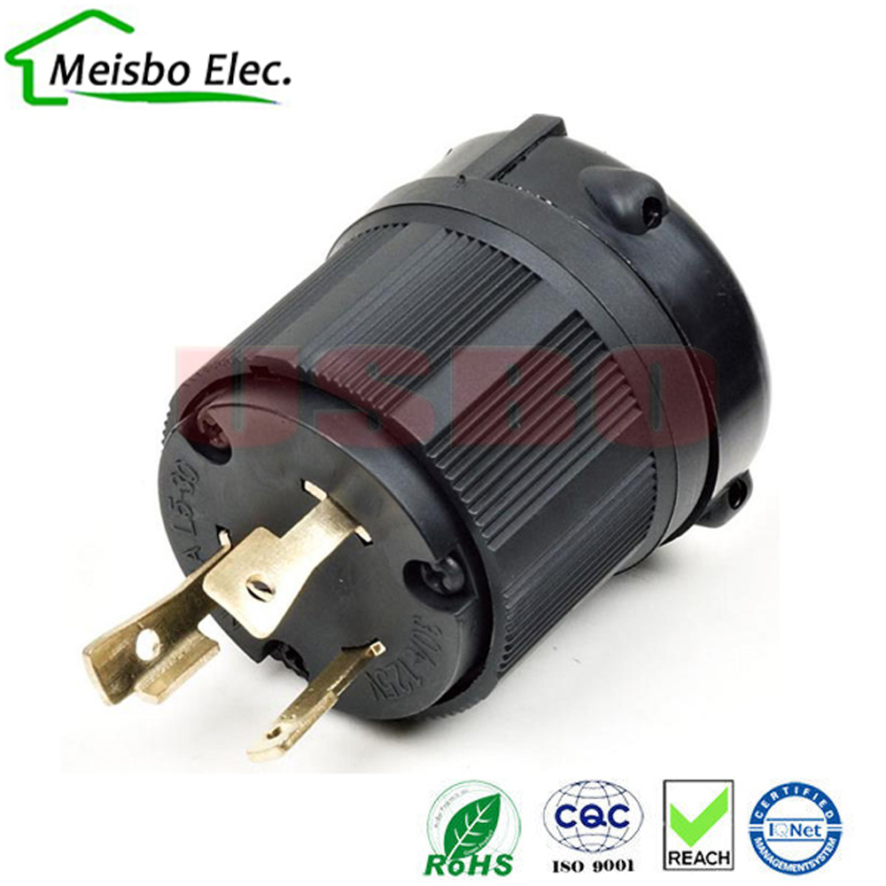 American 250v 30a 3 Pole Nema L5 30p Us Anti Off Industry Power Wiring Ac Plug Converter Drain Inline Wire Connector In Electrical From Consumer Electronics On