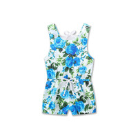 2018 New Children Floral Jumpsuit Clothing Baby Girls Printing Rompers Newborn Baby Girl Sleeveless Playsuit Kids Cotton Clothes
