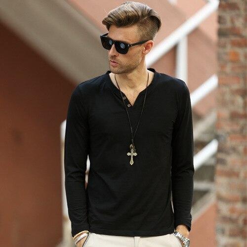 Plus Size T shirt Men Long Sleeve T Shirts Hot Sale Mens Casual ...