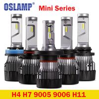 Oslamp Mini Series H4 Led Headlight Bulbs CSP Chips Hi Lo Single Beam Car Headlights 60W
