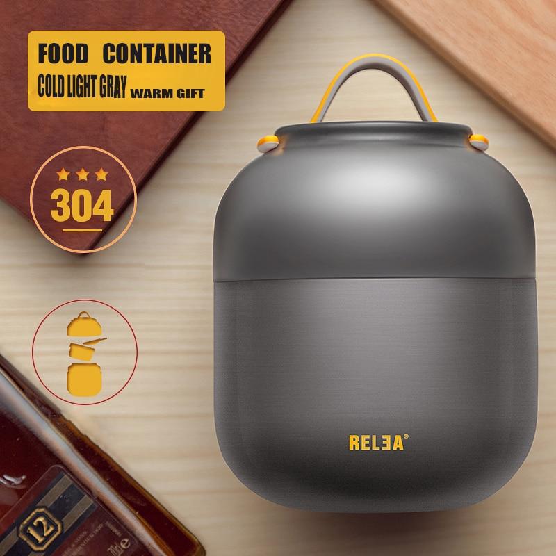 Frasco de vacío portátil del frasco de vacío del tazón de fuente de acero inoxidable del envase de comida aislado de la fiambrera del termo 700ml / 500ml