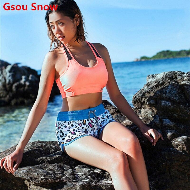 Summer Cool GS Brand Sport Workout Boardshorts Womens Swimwear Printing Beach Shorts Quick-drying Board Shorts Surf