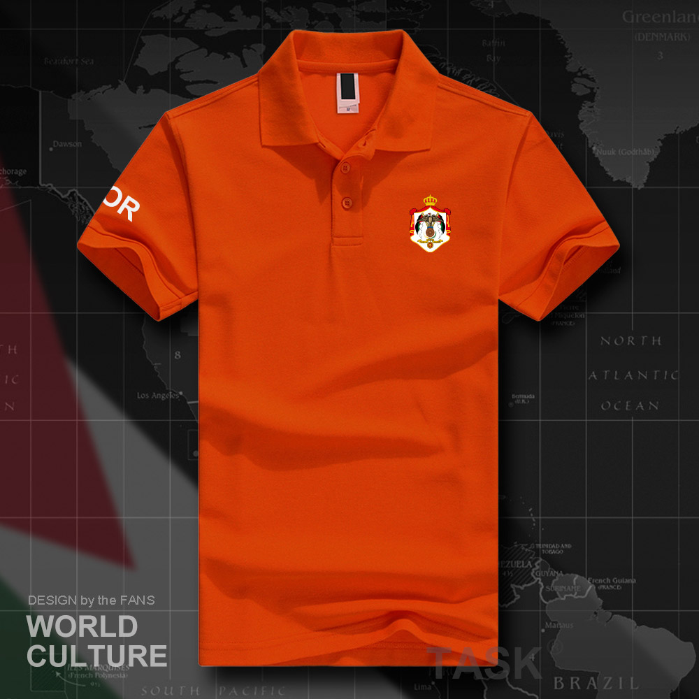 The Hashemite Kingdom of Jordan JOR   polo   shirts men short sleeve white brands printed for country 2018 cotton nation emblem new