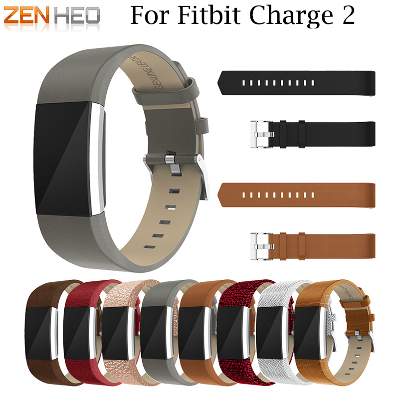 Wristband Wrist Strap Replacement Band For Fitbit Charge 2 Watch Bands Bracelet Belt Leather WatchBand For Fitbit Charge 2