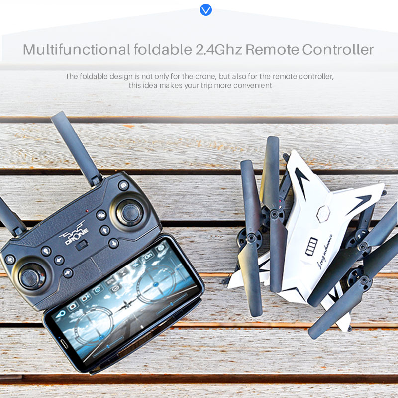 New RC Helicopter KY601S Drone with Camera HD 1080P WIFI FPV RC Drone Professional Foldable Quadcopter  Minutes Battery Life 16