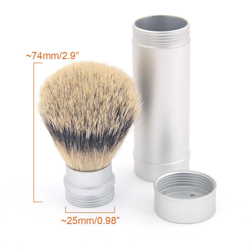 Zy Pure Silvertip Badger Hair Men Wet Shaving Beard Brush