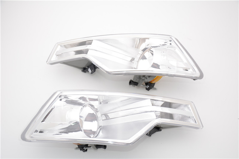 цена на 1Pair Car Styling Clear Fog Lights Front Driving Fog Lamp Without Bulbs For Citroen C5 2008-2015