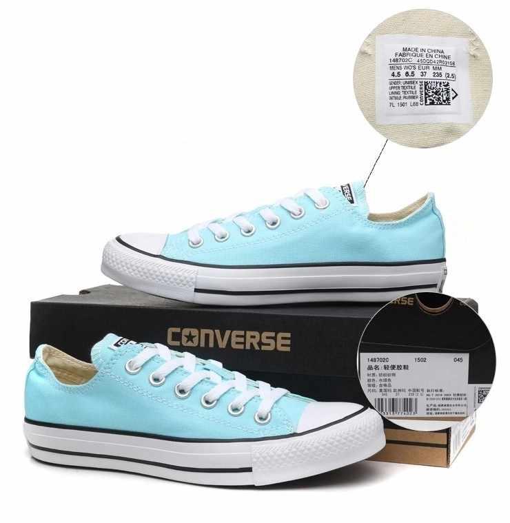9d99eda81a9c ... Original Converse all star Aqua and pink color canvas shoes men s and  women s sneakers low classic ...