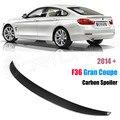 P Estilo Para BMW F36 Spoiler De Fibra De Carbono Série 4 4 Portas Gran F36 Coupe Saqueador De Carbono 2014 2015 2016-UP 420i 420d 428i 435i
