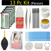 eyelash extension kit professional, 13pc lash kit, sensitive person lash kit set, personal eyelash extension kit