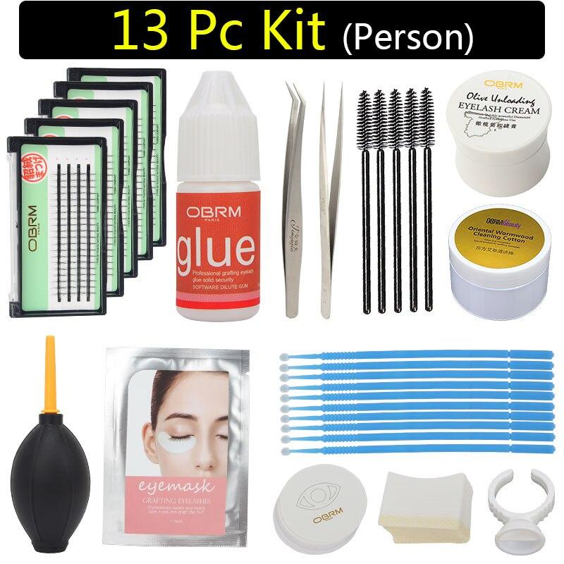 eyelash extension kit professional, 13pc lash kit, sensitive person lash kit set, personal eyelash extension kit