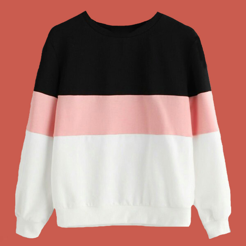 168bde32cc2 Detail Feedback Questions about Half White Half Black Hoodie Wine Red Cute  Pink Poleron Mujer 2019 Color Block Hoodie Kawaii Pullover Striped  Sweatshirt ...
