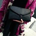 2016 женщин сумки модно случайный личи трикотажные день сцепления конверт сумка сумка женская сумка bolsa feminina