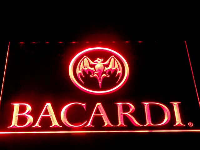 023 Bacardi LED Neon Signs with On/ Off Switch 7 colors sent in 24 hrs