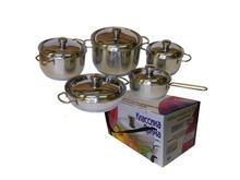 Набор посуды для приготовления АМЕТ, Классика-Прима, металлическая крышка