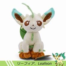 где купить 2018 New 18-20cm Anime Eevee Plush Sitting Leafeon Plush Toy Soft Doll Baby Toy Birthday Gift Free Shipping по лучшей цене
