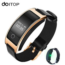 DOITOP Good Band CK11S Blood Stress Coronary heart Price Monitor Wrist Watch Good Bracelet Health Pedometer Wristband for Smartphones