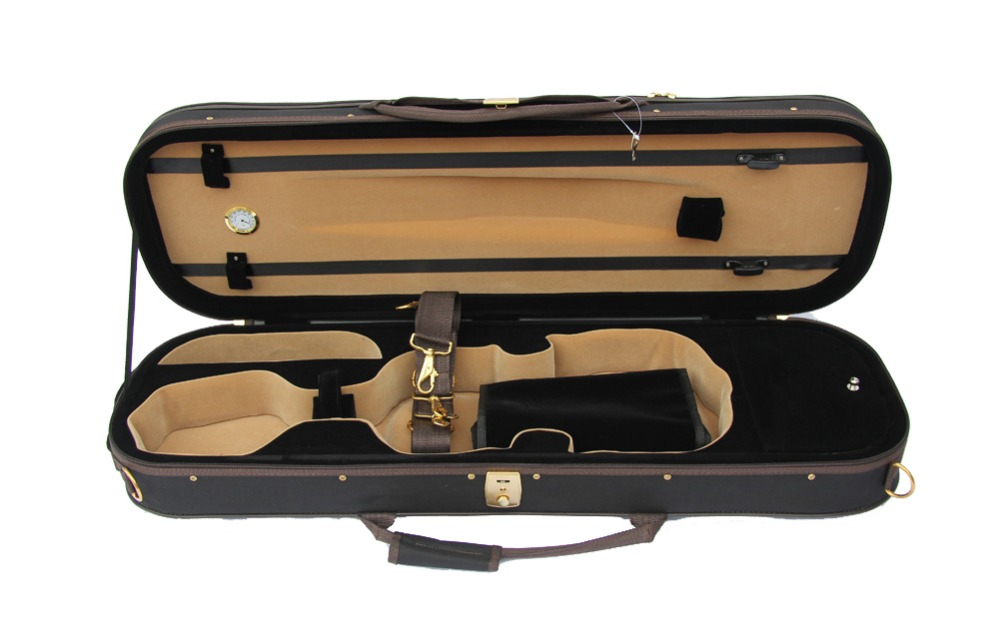 Violin Medium Quality Light Case FPH302 handmade new solid maple wood brown acoustic violin violino 4 4 electric violin case bow included