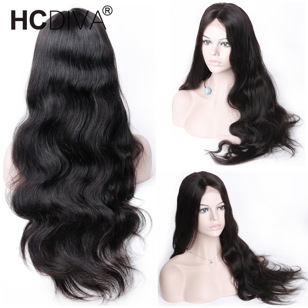 360 Lace Frontal Wigs 150 Remy Human Hair Wigs Peruvian Body Wave Lace Front Wig Pre
