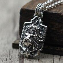 Персонализированные резные Лев властная Для мужчин и Для женщин Цепочки и ожерелья подвеска S925 стерлингов Серебряные ювелирные изделия тайский серебряный кулон