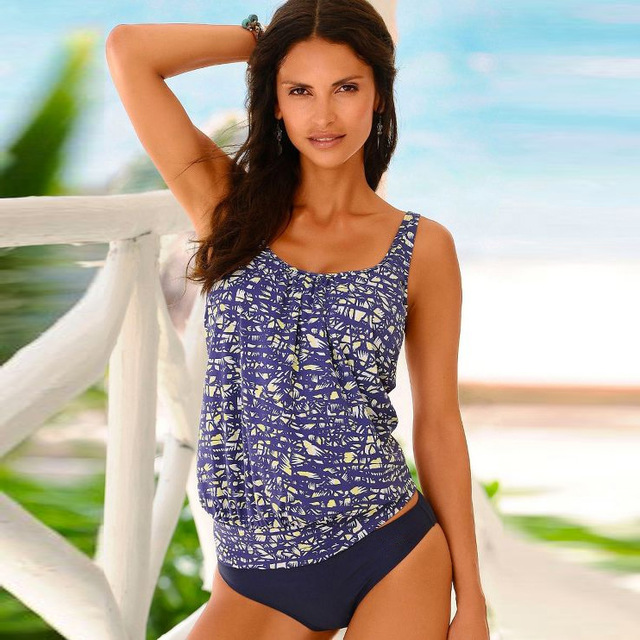 Swimwear 2020 Sexy Swimsuit Women Plus Size Tankini Sets Swim Vintage Beach Wear Bathing Suits Female Bandage Monokini Swim Suit 5