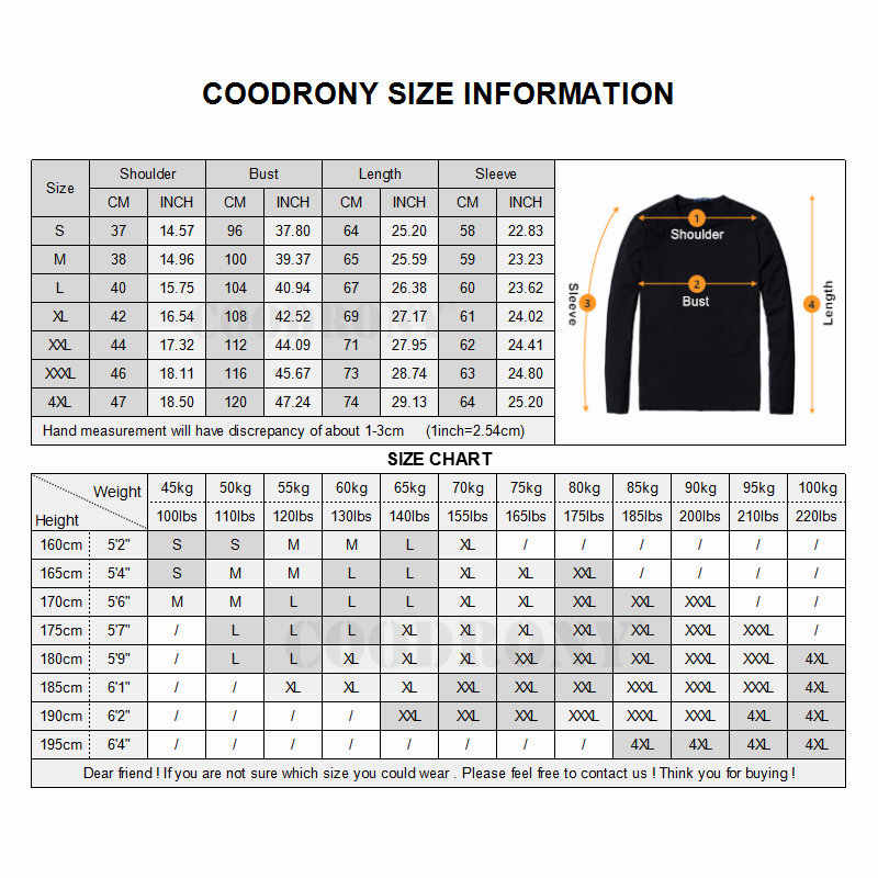 COODRONY Brand Cotton Sweaters Thick Warm Pullover Men Winter Christmas Sweater Men Slim Fit O-Neck Knitted Wool Pull Homme 8206