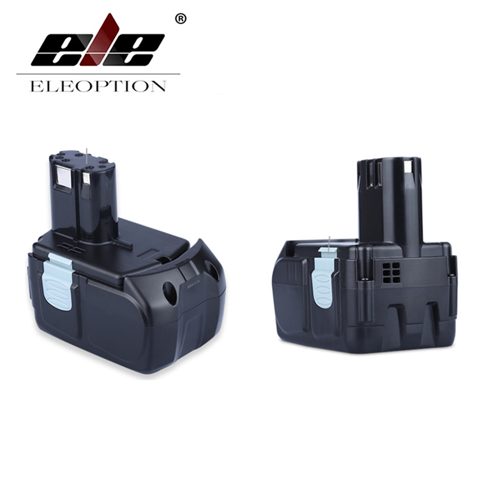 ELEOPTION 2PCS 18V 3000mAh Li-ion Power Tools Battery for HITACHI Drill BCL1815 BCL1830 EBM1830 327730 eleoption 2pcs 18v 4000mah li ion rechargeable power tool battery for hitachi bsl1830 bsl1840 330067