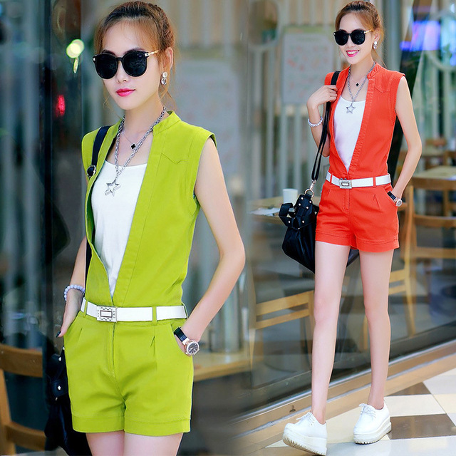 Europe set new summer fashion female Siamese pants two piece suit female small fragrant suit