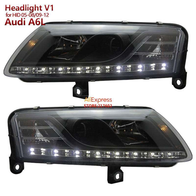 for Audi A6 A6L Projector Headlights 2005-2008 /2009-2012 V1 for Original HID/Xenon Models Ensure High Quality & Fitment