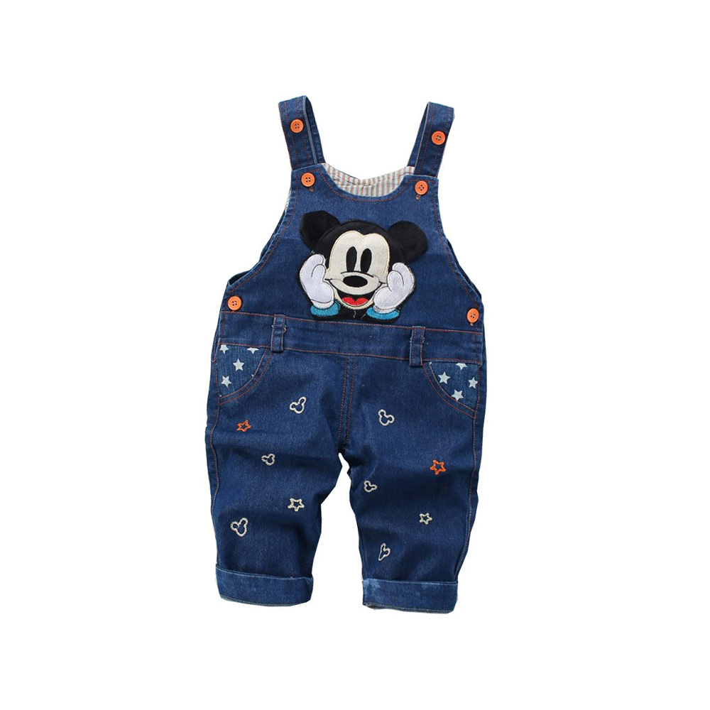 BibiCola Spring Fashion Leisure Pant For Baby Girls Jeans Bib Pants Children Denim Overall Trousers kids cartoon infant Pants шкаф пенал изабель