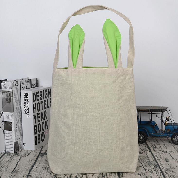 Easter Bunny Ear Gift Bag Happy Easter Decorations For Home Rabbit Ear Easter Basket Jute Bag Easter Party Supplies