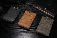 Belt Clip Mobile Phone Genuine Cow Leather Case Hook Loop Pouch For Sony Xperia M5 Z5