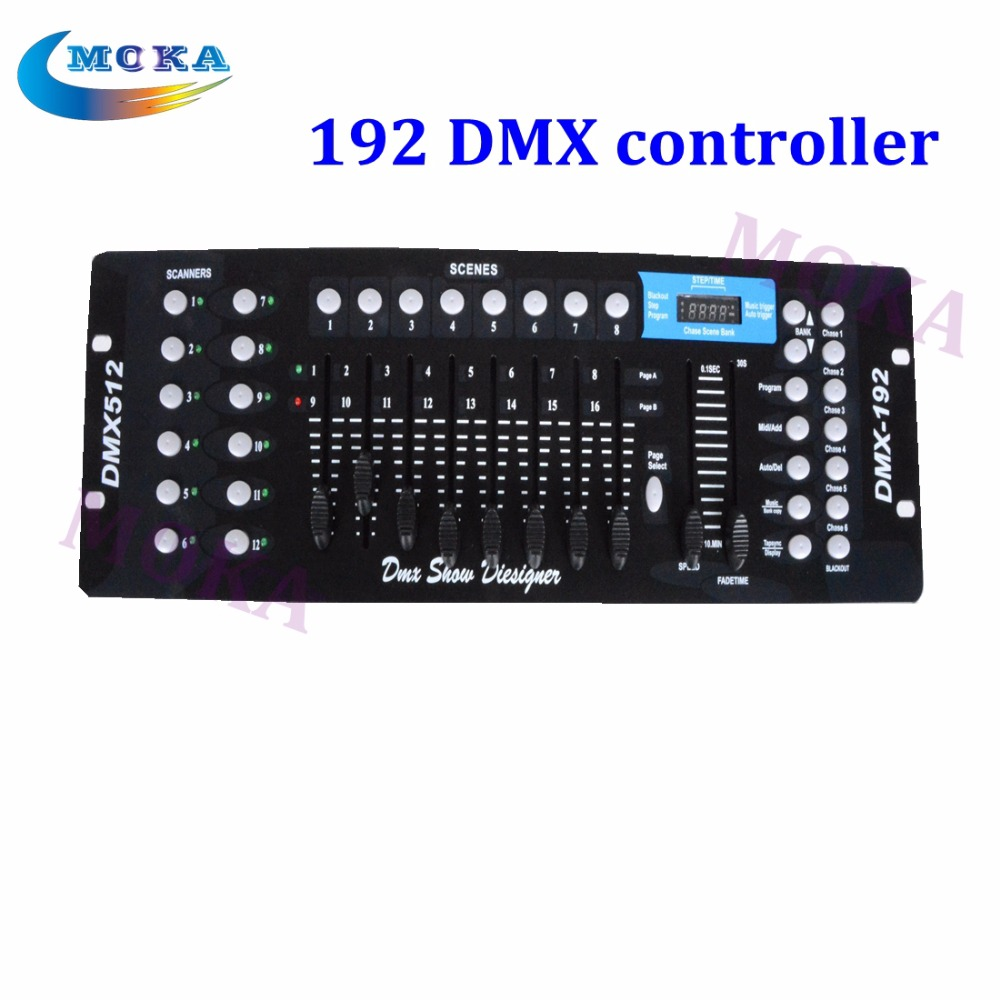 DMX controller 192 Good Quality DMX Console Stage Light DMX 192 Controller 2 pc lot new 192 dmx controller dmx 192 mini stone controller 192 dmx control for stage dmx console light moving head light