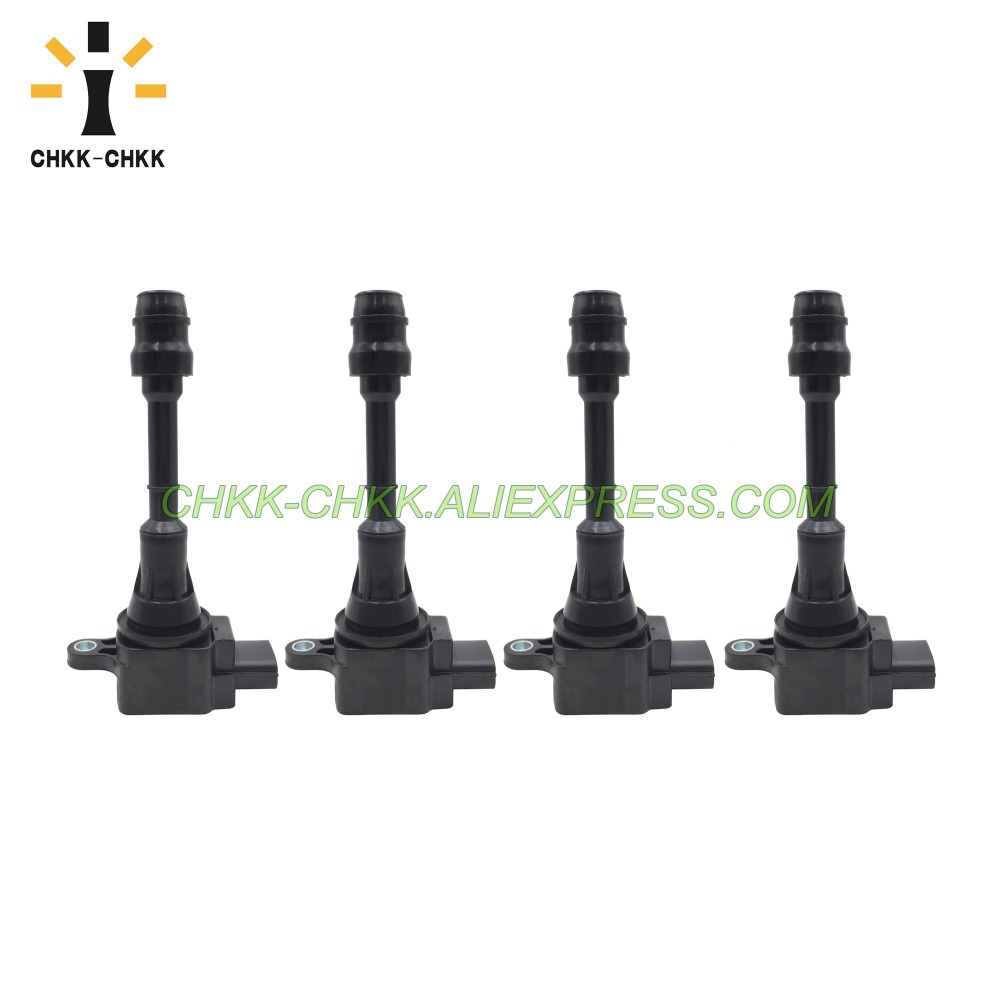 4PCS CHKK-CHKK Ignition Coil 22448-8H315 for Nissan Altima Sentra 2.5L X-Trail T30 Primera P12 224488H315