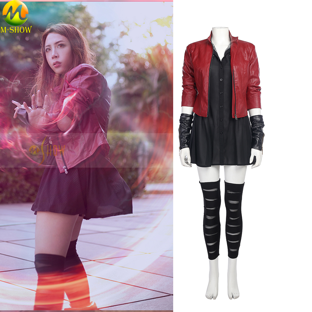 Scarlet Witch Cosplay Costume Avengers Age of Ultron 2 Bruja Escarlata Cosplay Costume Halloween Costumes For Women