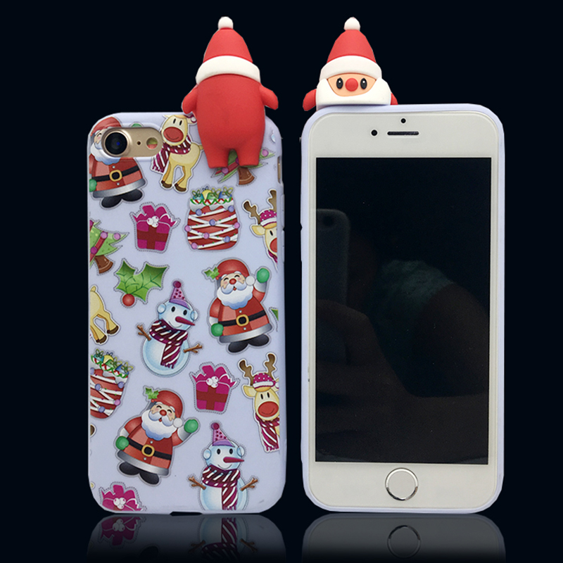 Phone Cases For Iphone X Ten Case 3d Christmas Soft Silicone Case Back Cover For Iphone