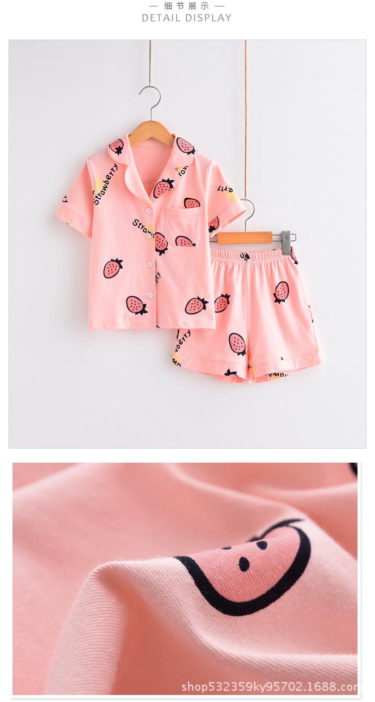 4bc0f418d Kids Pyjamas Boys Girls Summer Sleepwear Boys Fashion Pijamas 3Y-14 ...