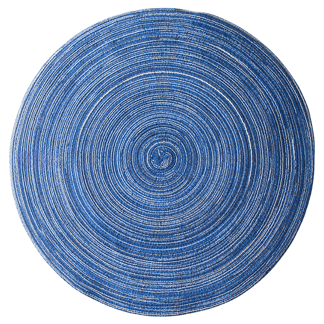 Home Mat Design Table Ramie Insulation Pad Round Placemats Linen Mats Kitchen Accessories Decoration