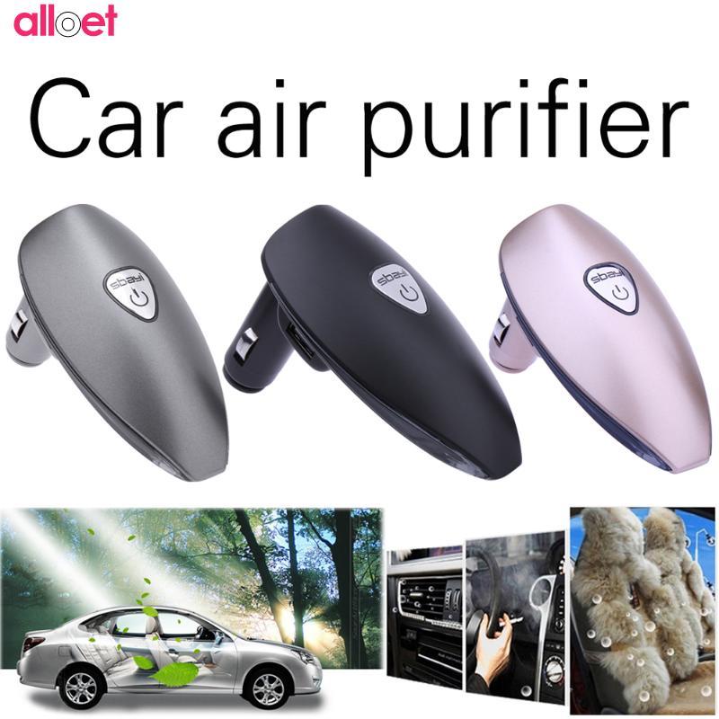 Universal Car Auto Air Purifier Cleaner Dual USB Car Charger Smoke anion purifier Fresh Car Air Ionizer Oxygen Bar Car Interior early summer new car air purifier formaldehyde haze anion oxygen bar