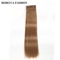 Rebecca Non Remy Human Hair Bundles Brazilian Silky Straight Weave Light Brown 8 Brazilian Hair Weave